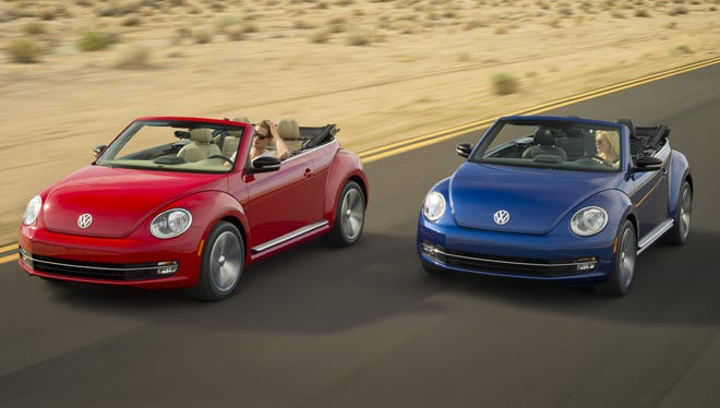 The 2013 Volkswagen Beetle convertible, which will go on sale in the U.S. in the fourth quarter.