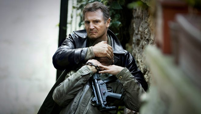 "Liam Neeson returns as our favorite middle-aged action hero  with ""a very particular set of skills"" in  'Taken 2.'"