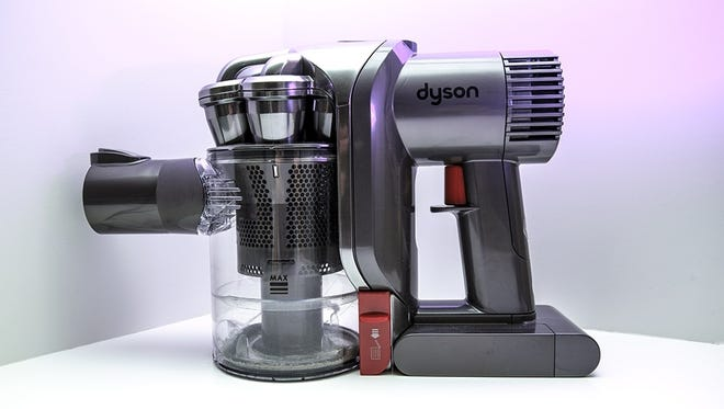 Dyson's latest hand vac is a pint-sized appliance that can sit comfortably on a bookshelf.