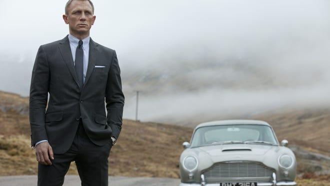 "Daniel Craig as James Bond in the action adventure film, ""Skyfall."""