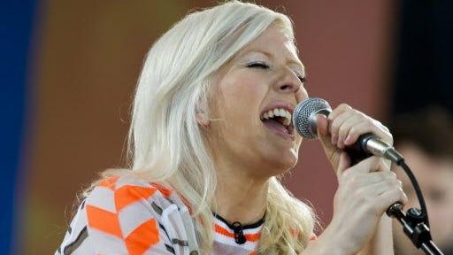 """Ellie Goulding performs on ABC's """"Good Morning America"""" show in New York."""