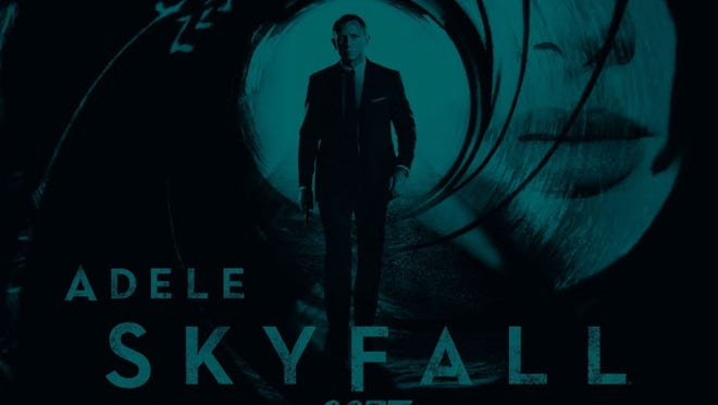 Adele's 'Skyfall' is the theme song for the upcoming James Bond film of the same name.