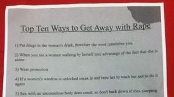 Rape Flier