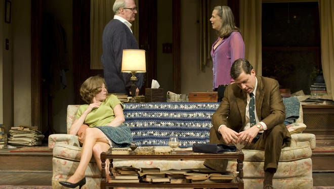 A Chicago-based cast -- from left, Carrie Coon, Tracy Letts, Amy Morton and Madison Dirks -- stars in a revival of Edward Albee's 'Who's Afraid of Virginia Woolf?'