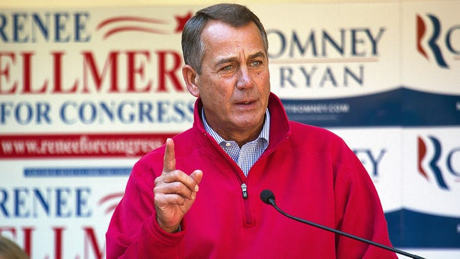House Speaker John Boehner campaigns for Republican candidates in Raleigh, N.C., on Oct. 13.