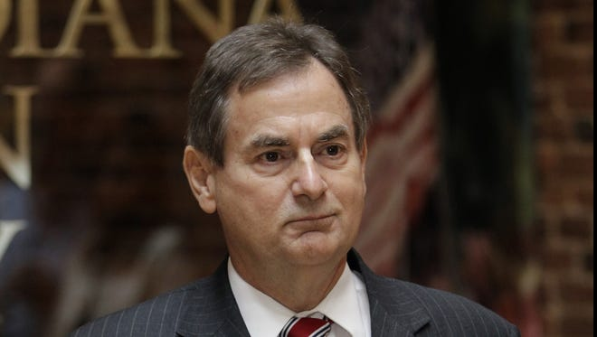 Indiana Senate candidate Richard Mourdock appears at a news conference in Indianapolis on Wednesday.