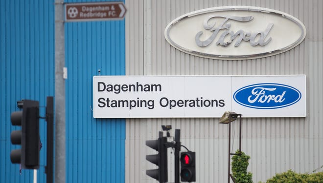 Eentrance to Ford Stamping Operations in Dagenham, east London. Ford says it will close the plant in 2013, cutting about 1,000 jobs.