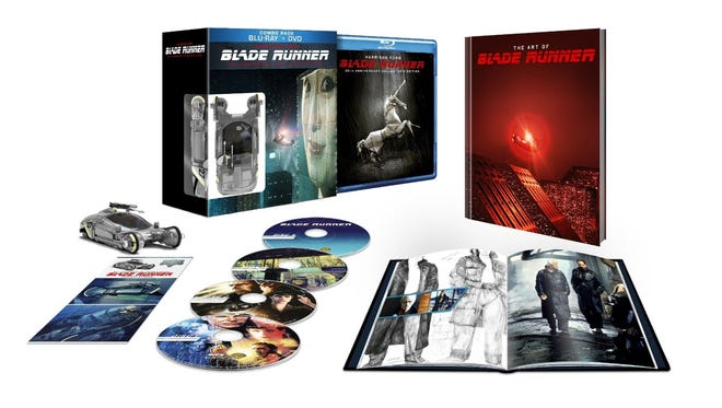 The new four-disc 'Blade Runner 30th Anniversary Collector's Edition' (2012, Warner Bros., R, $65) and three-disc Blu-ray book ($35) celebrates the film with a comprehensive look at its development, impacts and controversies