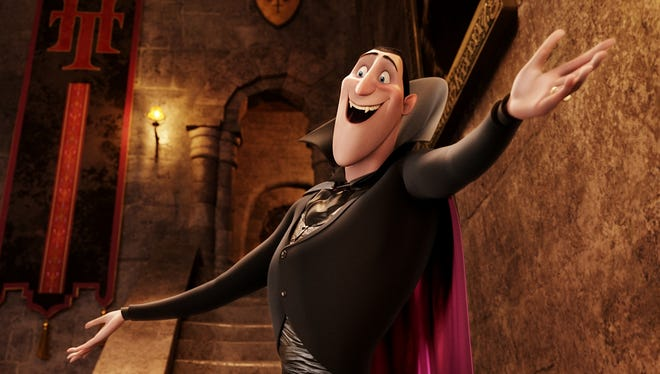 Dracula (Adam Sandler) in HOTEL TRANSYLVANIA, an animated comedy from Sony Pictures Animation.