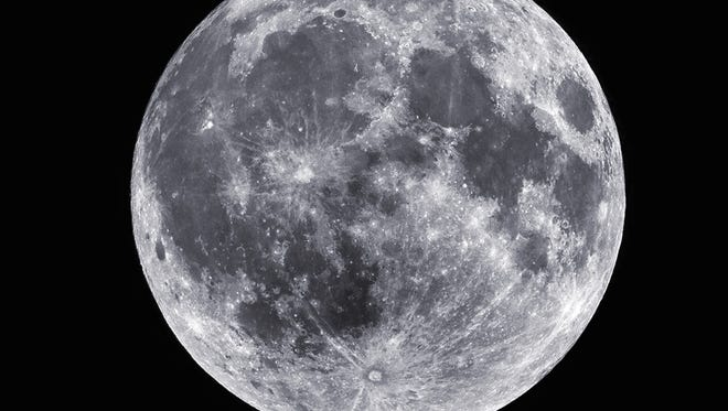 A full moon captured July 18, 2008.