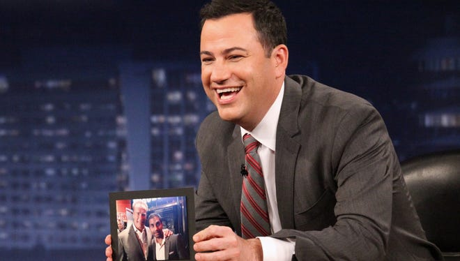 With Hurricane Sandy battering New York, Jimmy Kimmel is calling off his Monday show at the Brooklyn Academy of Music.