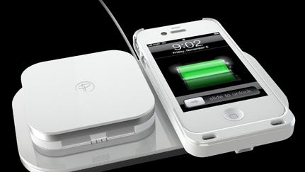 Duracell's Powermat 24-Hour Power System charges smartphones wirelessly.