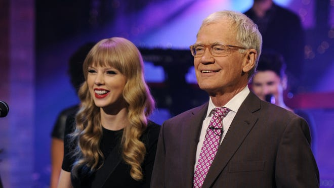 The studio audience returned Wednesday to David Letterman's taping (he's shown with Taylor Swift from a show last week)  following Superstorm Sandy.