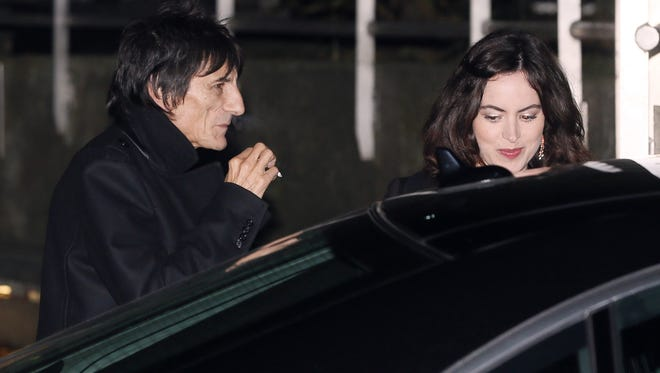 Rolling Stones' Ron Wood and reported fiancee Sally Humphreys have been dating for six months.