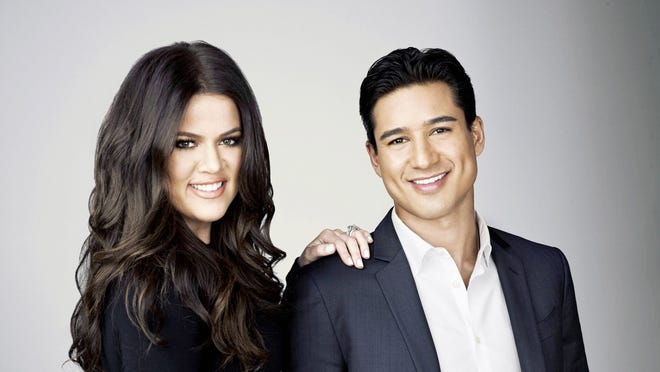 Newly minted 'X Factor' live hosts Khloe Kardashian Odom and Mario Lopez.