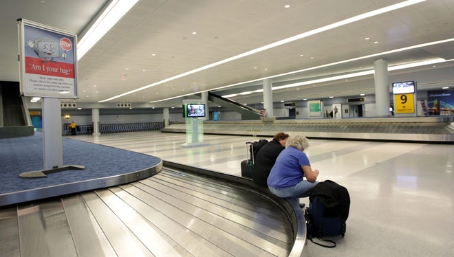 It rarely looks like this. Passengers remain stranded at New York's John F. Kennedy International Airport October 31, 2012, although some some service was resumed.