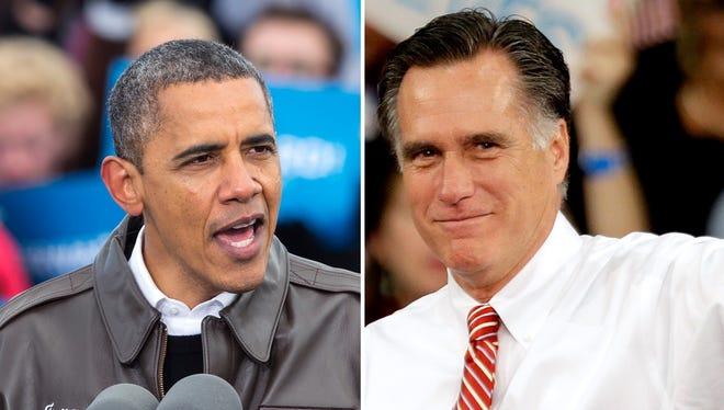 President Obama speaks Thursday in Green Bay, Wis.; Mitt Romney speaks Thursday at an event in Doswell, Va.