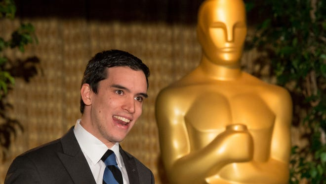 """Fellow James DiLapo, writer of """"Devils at Play,"""", during the Academy of Motion Picture Arts and Sciencesâ?? presentation of its 2012 Nicholl Fellowships in Screenwriting on November 8 in Beverly Hills."""