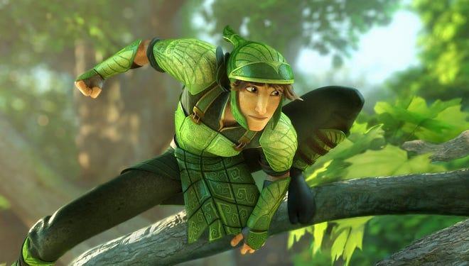 Leafman warrior, Nod, (voiced by Josh Hutcherson,) in a scene from 'Epic.'