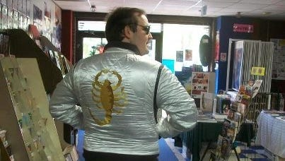 Blogger Zack Smith models his 'Drive' jacket.