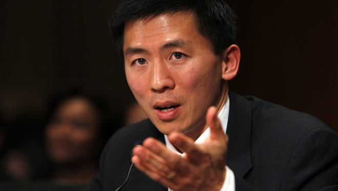 Goodwin Liu testifies before the Senate Judiciary Committee on April 16, 2010. Republicans ultimately refused to grant his nomination an up-or-down vote.