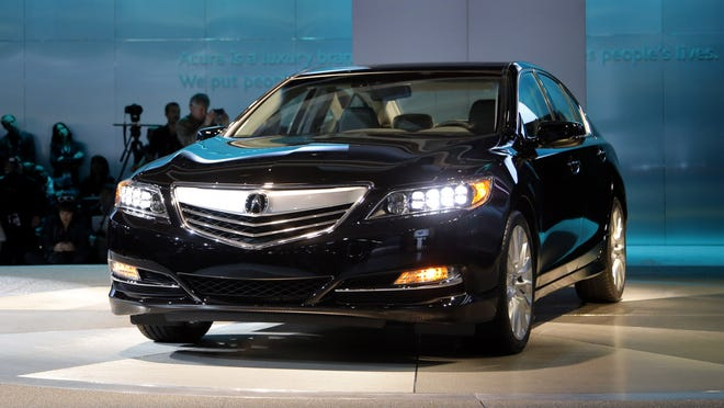 The 2014 Acura RLX is introduced at the L.A. Auto Show.