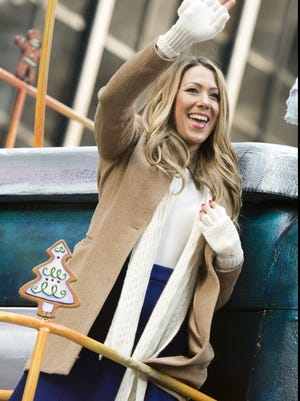 Colbie Caillat rides a float in the Macy's Thanksgiving Day Parade in New York, on Nov. 22, 2012.