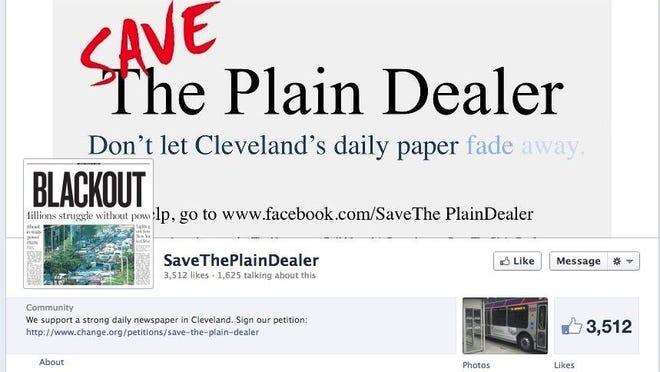 SaveThePlainDealer Facebook page [Via MerlinFTP Drop] Cleveland Plain Dealer