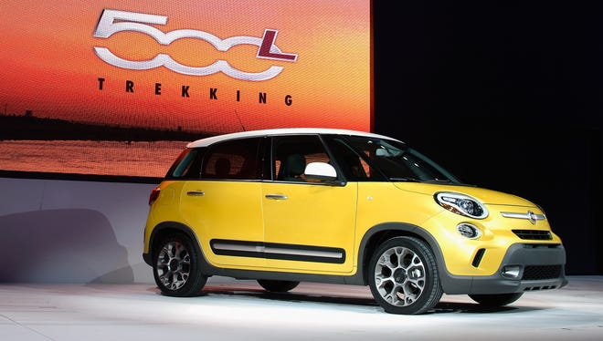 The bigger and roomier four-door Fiat 500L unveiling last week at the L.A. Auto Show. This is the Trekking model.