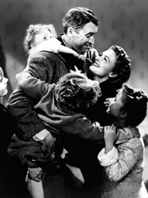 "Jimmy Stewart and Donna Reed star in ""It's a Wonderful Life."" In that Christmas drama, an angel helps a businessman find out what life would be like if he never existed."