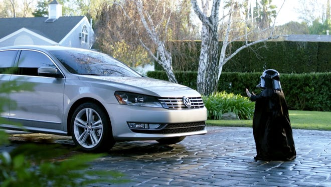 "The kid dressed as Darth Vader starts his dad's Passat with ""The Force"" (actually his dad used VW's remote start feature) in Volkswagen's hit Super Bowl ad from the 2011 game."