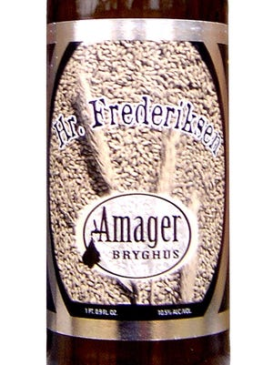 Hr. Frederiksen from Amager Bryghus brewery of Kastrup, Denmark, is 10.5 percent ABV.