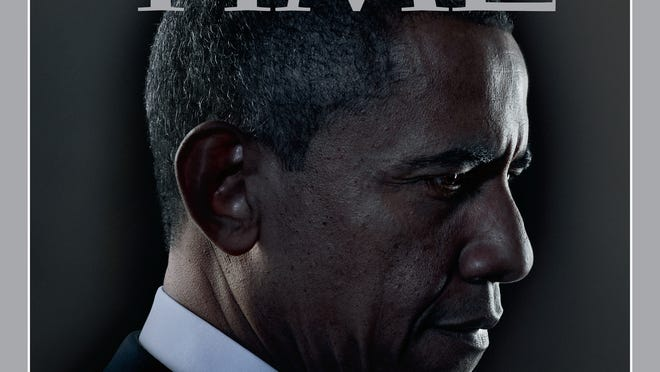 "This image from 'Time' magazine shows the ""Person of the Year"" cover featuring President Obama."