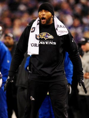 Ravens linebacker Ray Lewis has been out since tearing his triceps muscle Oct. 14 vs. the Cowboys.