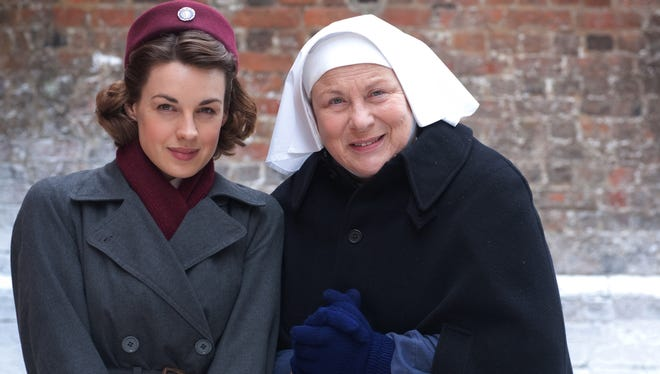Jenny Lee (Jessica Raine), Sister Evangelina (Pam Ferris) and the rest of Nonnatus House celebrate Christmas in a special 'Call the Midwife' on PBS.
