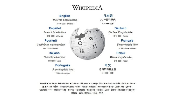 """Wikipedia, """"the free encyclopedia that anyone can edit,"""" was launched in 2001 and now contains some 23 million articles."""