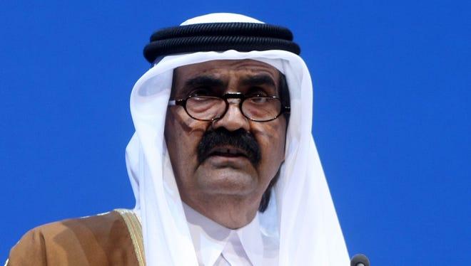 Qatari Emir Sheikh Hamad bin Khalifa. Qatar owns Al Jazeera.
