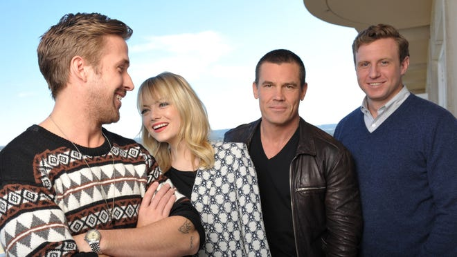 'Gangster Squad' stars Ryan Gosling, left, Emma Stone and Josh Brolin and is directed by Ruben Fleischer.