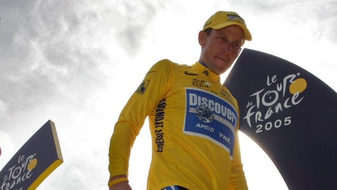 Lance Armstrong is photographed July 24, 2005, during the Tour de France.