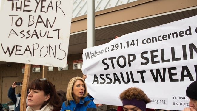 Gun-control advocates along with parents of victims and gun violence survivors joined together in Danbury, Conn., to urge Walmart, the nation's largest gun retailer, to stop the sale of assault weapons in their stores nationwide.