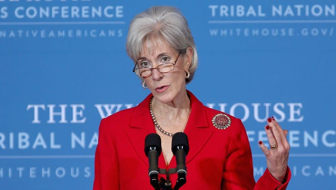 Health and Human Services Secretary Kathleen Sebelius addresses a White House conference on Dec. 5. HHS is relaunching its website.