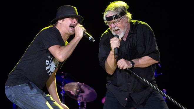 Kid Rock, left, and Bob Seger will perform together in March.