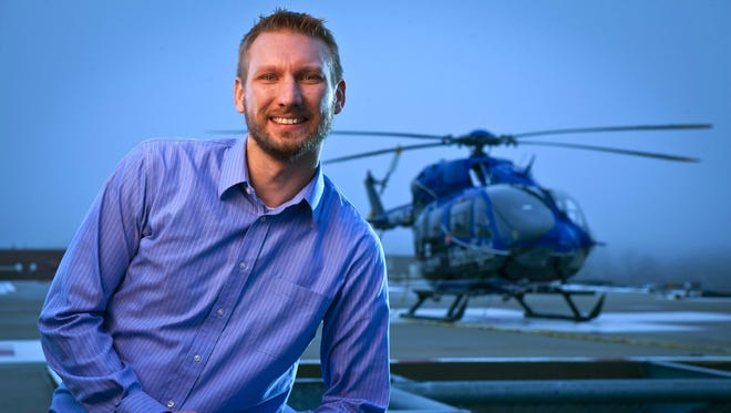 Jim Cooper is developing an application aimed at improving the efficiency of medical emergency helicopters.