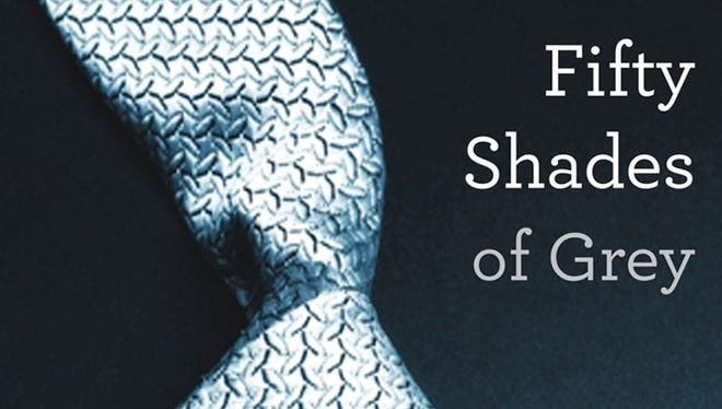 "This file photo shows the cover of  ""Fifty Shades of Grey"" by best-selling author E L James."