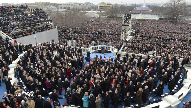 National Guard soldiers and airmen from across the country were deputized to help manage crowds for President Obama's second inauguration.