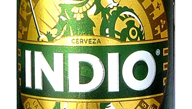 Indio beer is brewed by Cerveceria Cuauhtemoc Moctezuma in Monterrey, Mexico is 5 percent ABV.