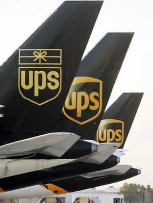 United Parcel Service cargo planes.