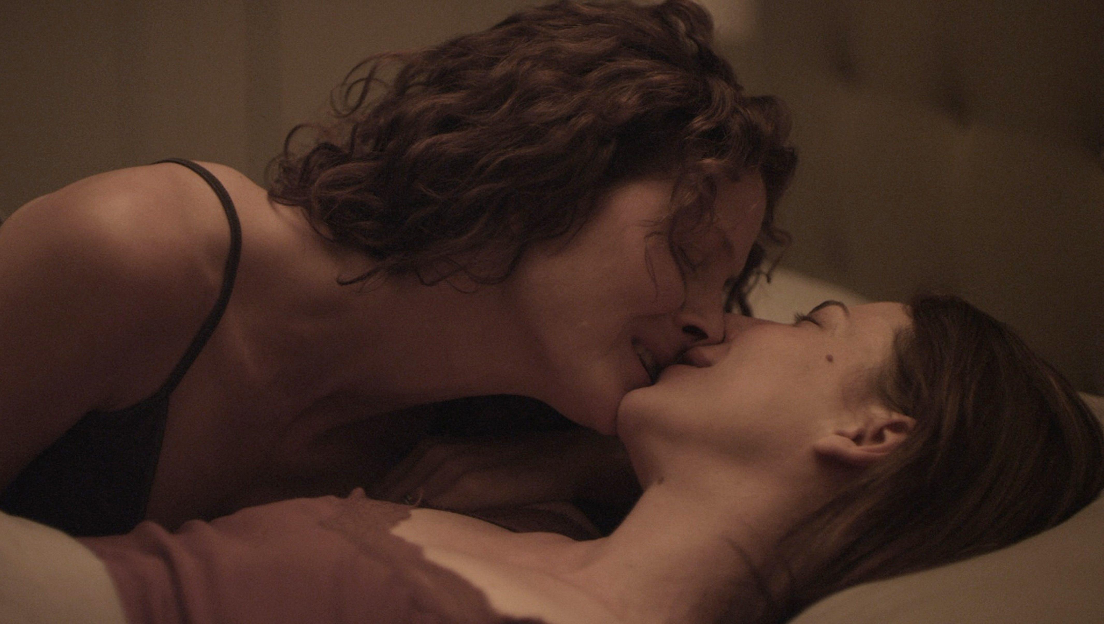 Romantic lesbian scene