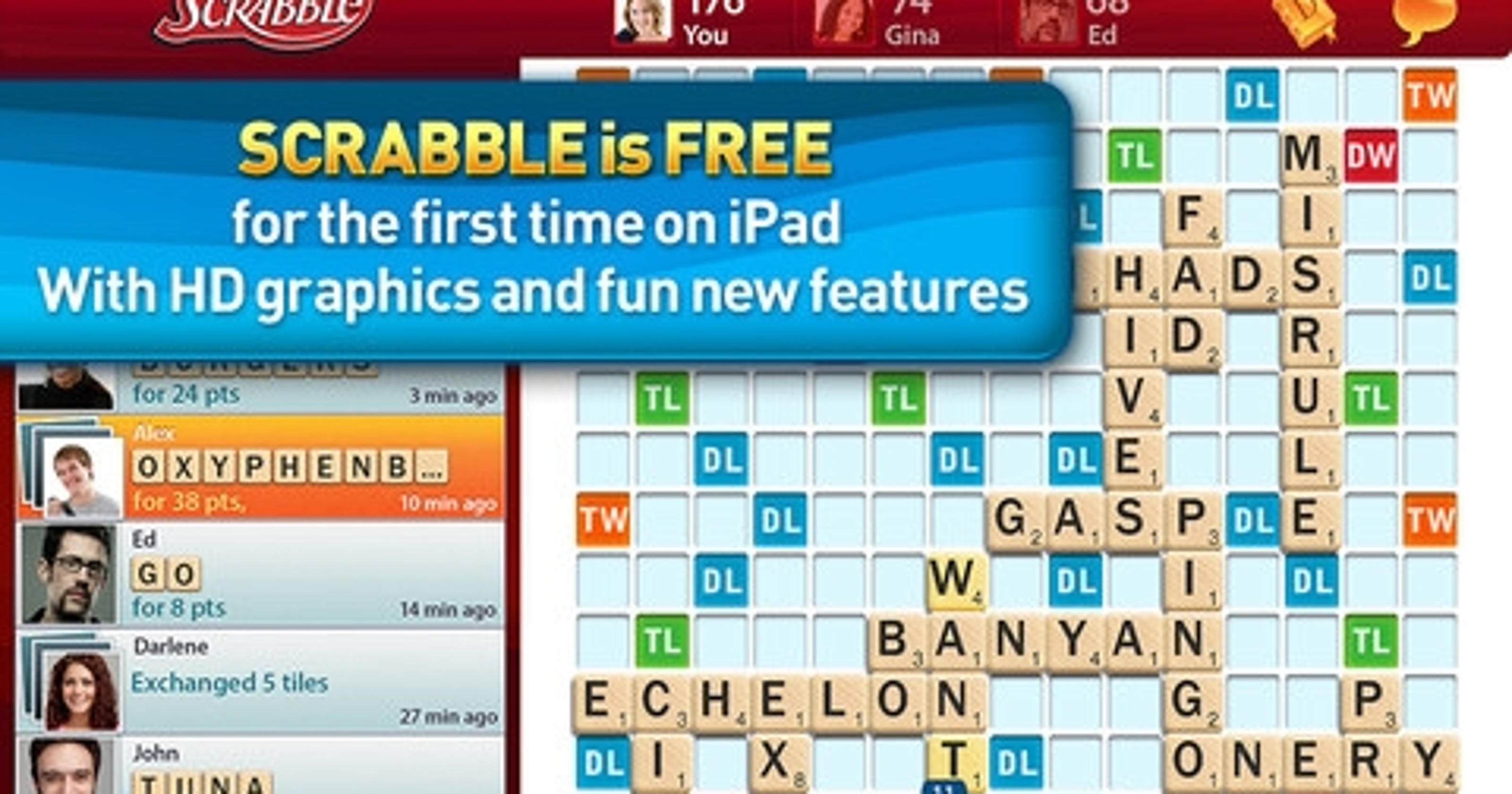 Scrabble HD' for iPad: free and fun, but flawed