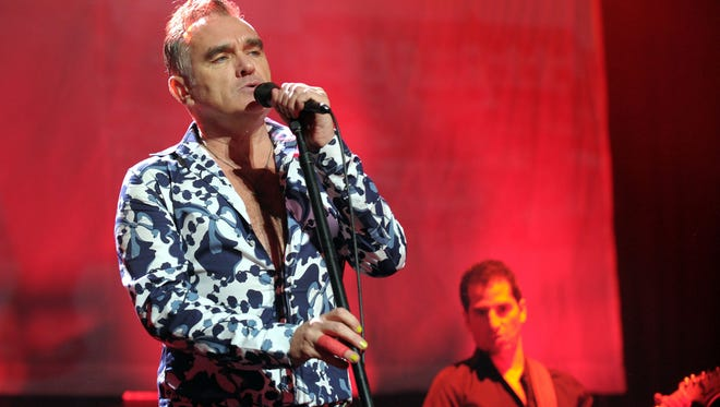 English singer and lyricist Morrissey performs Friday evening, Jan. 18, 2013 at The Sovereign Performing Arts Center in Reading, Pa. (AP Photo/The Express-Times, Matt Smith) ORG XMIT: PAEAS102